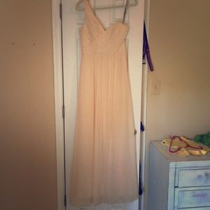 Alfred Angelo champagne bridesmaid dress